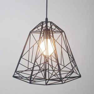 Vintage-bar-iron-lamp-modern-brief-bird-nest-black-diamond-pendant-light.jpg_640x640 (1)